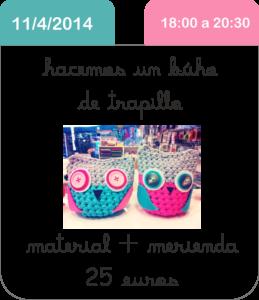 taller-trapillo-buho-cute-and-crafts-santa-coloma-de-gramenet-scrapbooking-barcelona-manualidades