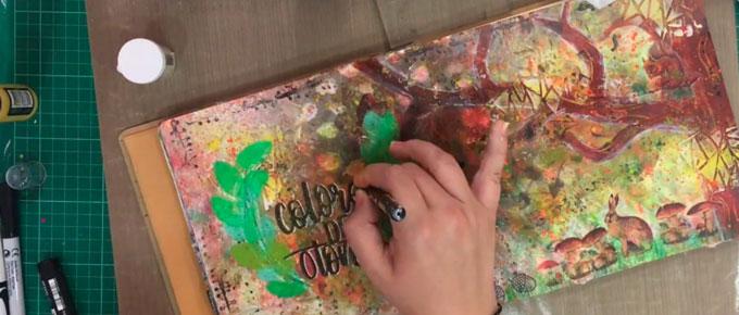 Art Journal Blog Hop Octubre