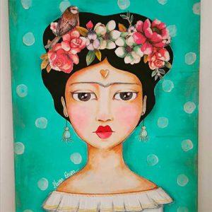 taller creativo marzo 2018 en santa coloma de gramenet taller creativo para crear un cuadro personalizado con la imagen de frida kahlo en cute and crafts en santa coloma de gramenet barcelona