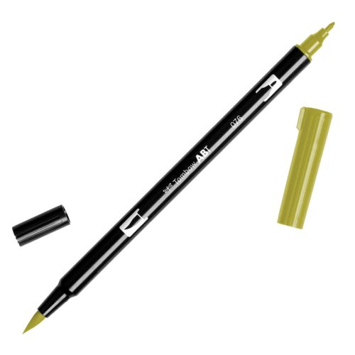 Rotulador ABT Dual Brush 076 Green Ochre Tombow