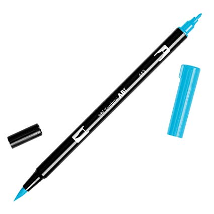 Rotulador ABT Dual Brush 443 Turquoise Tombow