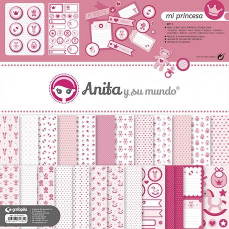 Kit de Scrapbooking Mi Princesa Anita Y Su Mundo