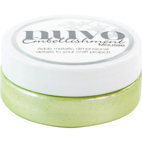 Nuvo Mousse Embellishment Spring Green