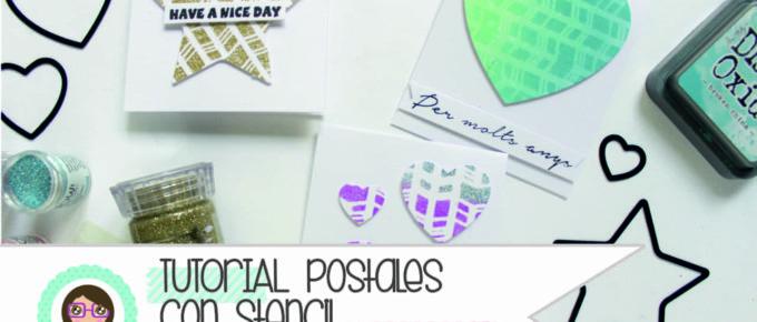 tutorial scrapbooking postales con stencils