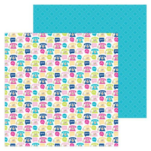 Papel scrapbooking 30x30 Hello - Hello there Doodlebug Design