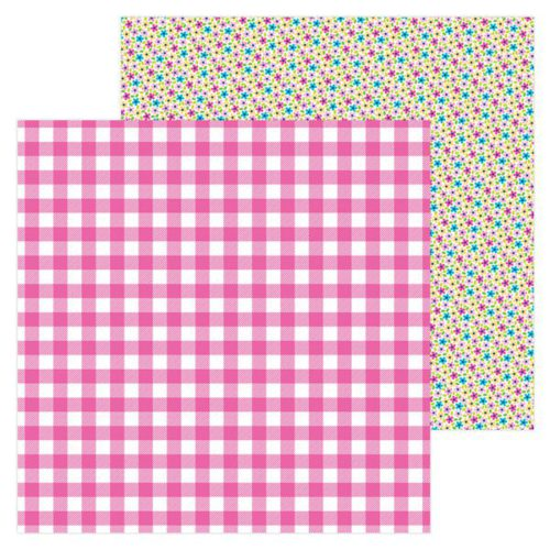 Papel scrapbooking 30x30 Hello - Ticlked pink Doodlebug Desig