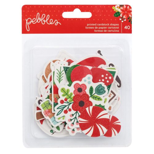 Die Cuts para scrapbooking Cozy & Bright de Pebbles
