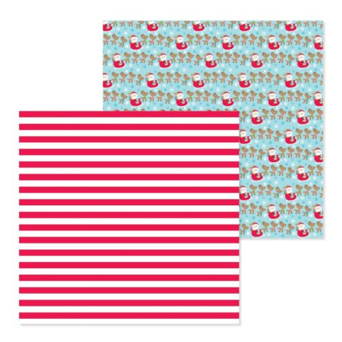 Papel para scrapbooking 30x30 Candy cane lane de Doodlebug Design