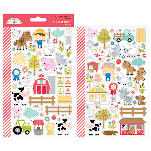 Stickers Down The Farm de Doodlebug Design.