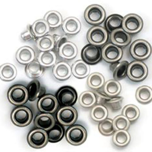 Eyelets Metalizados en tonos plata de we r memory keepers