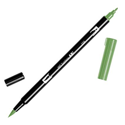Rotulador ABT Dual Brush 158 Dark Olive Tombow