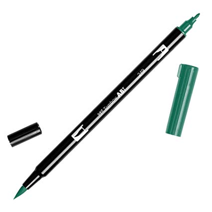 Rotulador ABT Dual Brush 249 Hunter Green Tombow