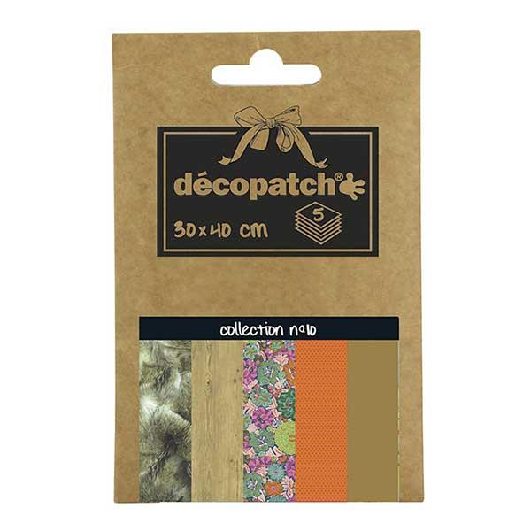 Papeles Décopatch Pocket 30x40 cm 5 hojas - Colección n°10