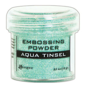 Embossing powder Aqua Tinsel Ranger