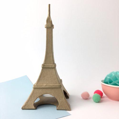 Torre parisina cartón craft Décopatch para decorar