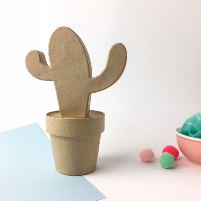 Cactus mejicano cartón craft Décopatch para decorar