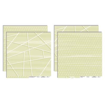 Kit 10 papeles para scrapbooking Colección Básicos Confetti de Iriri estudio