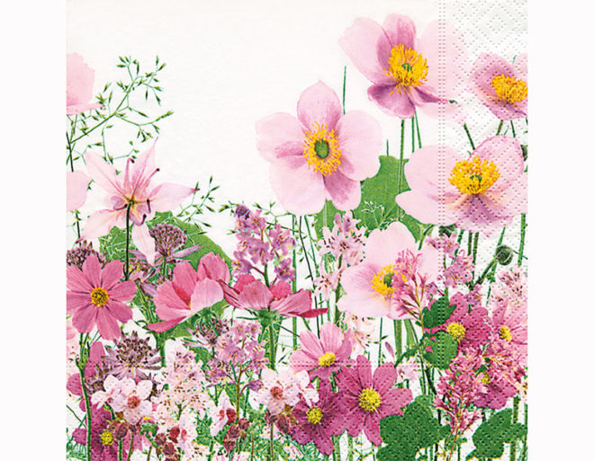 Servilleta para decoupage 33 x 33 Pink Meadow