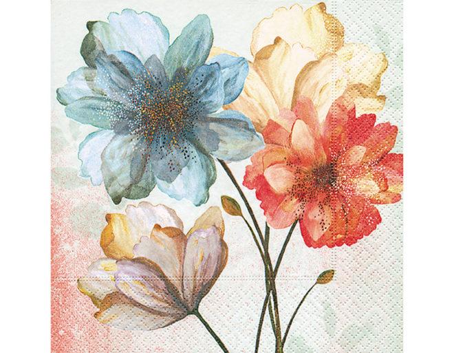 Servilleta para decoupage 33 x 33 Portrait of flowers